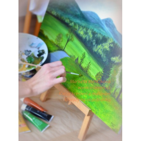 Kurz malby akrylem Mnetěš